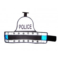 Blue Police LED Armbands