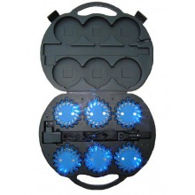 Sequential Blue Knight Pod LED Hazard Lights
